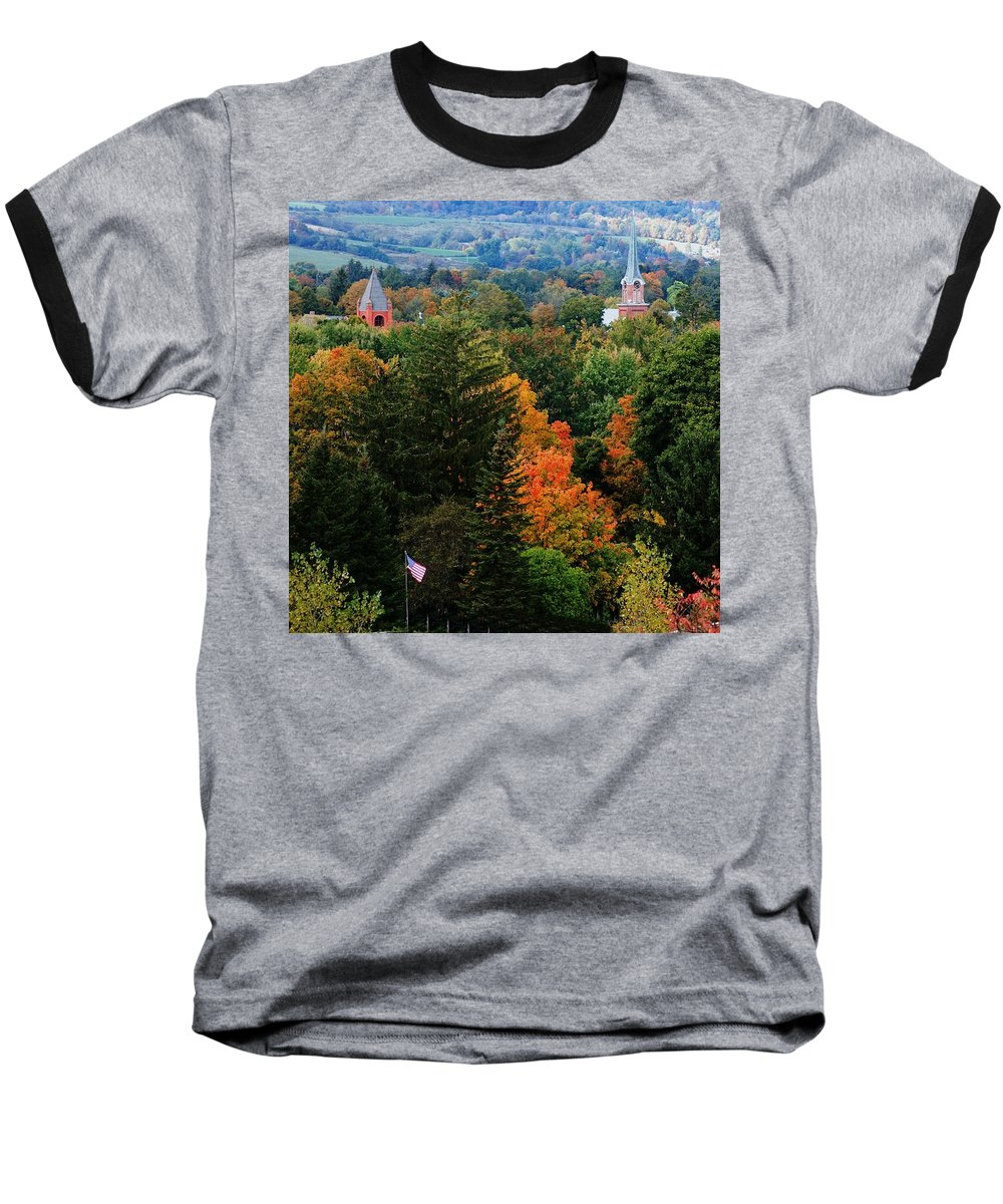Landscape Baseball T-Shirt featuring the photograph Homer Ny by David Lane