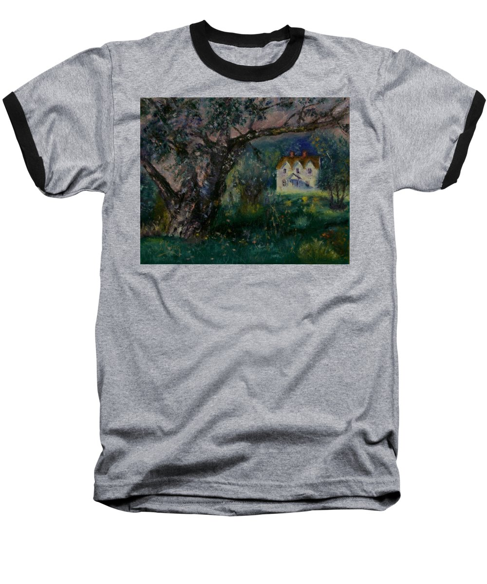 Landscape Baseball T-Shirt featuring the painting Homestead by Stephen King