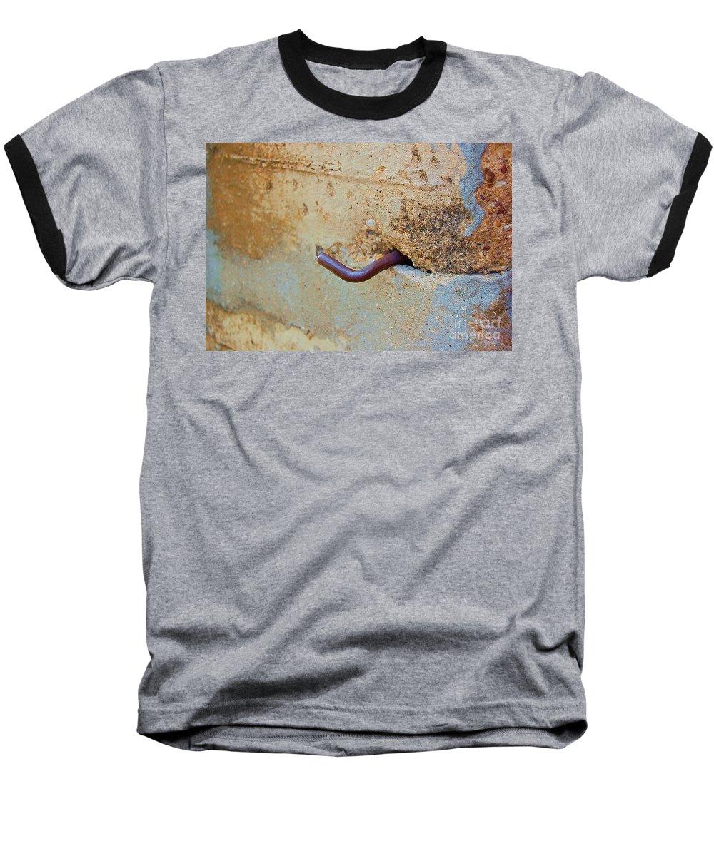 Metal Baseball T-Shirt featuring the photograph Hook by Debbi Granruth