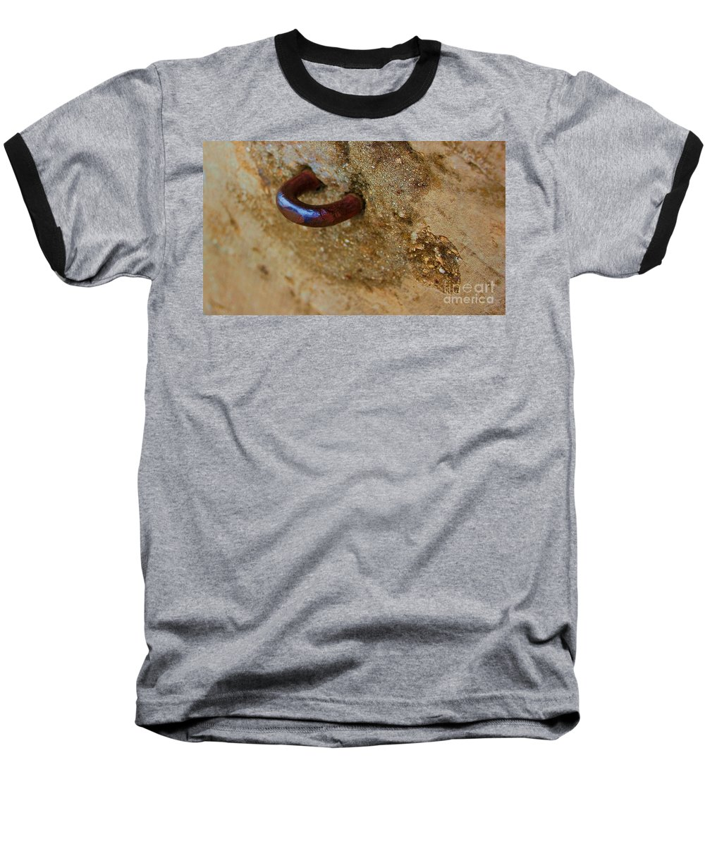 Concrete Baseball T-Shirt featuring the photograph Hooked by Debbi Granruth