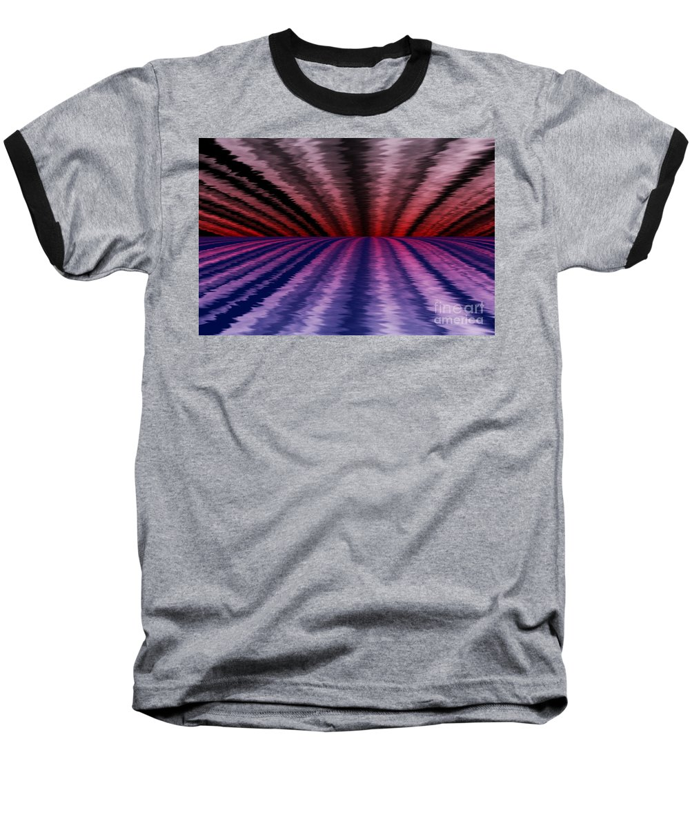 Abstract Baseball T-Shirt featuring the digital art Horizon by David Lane