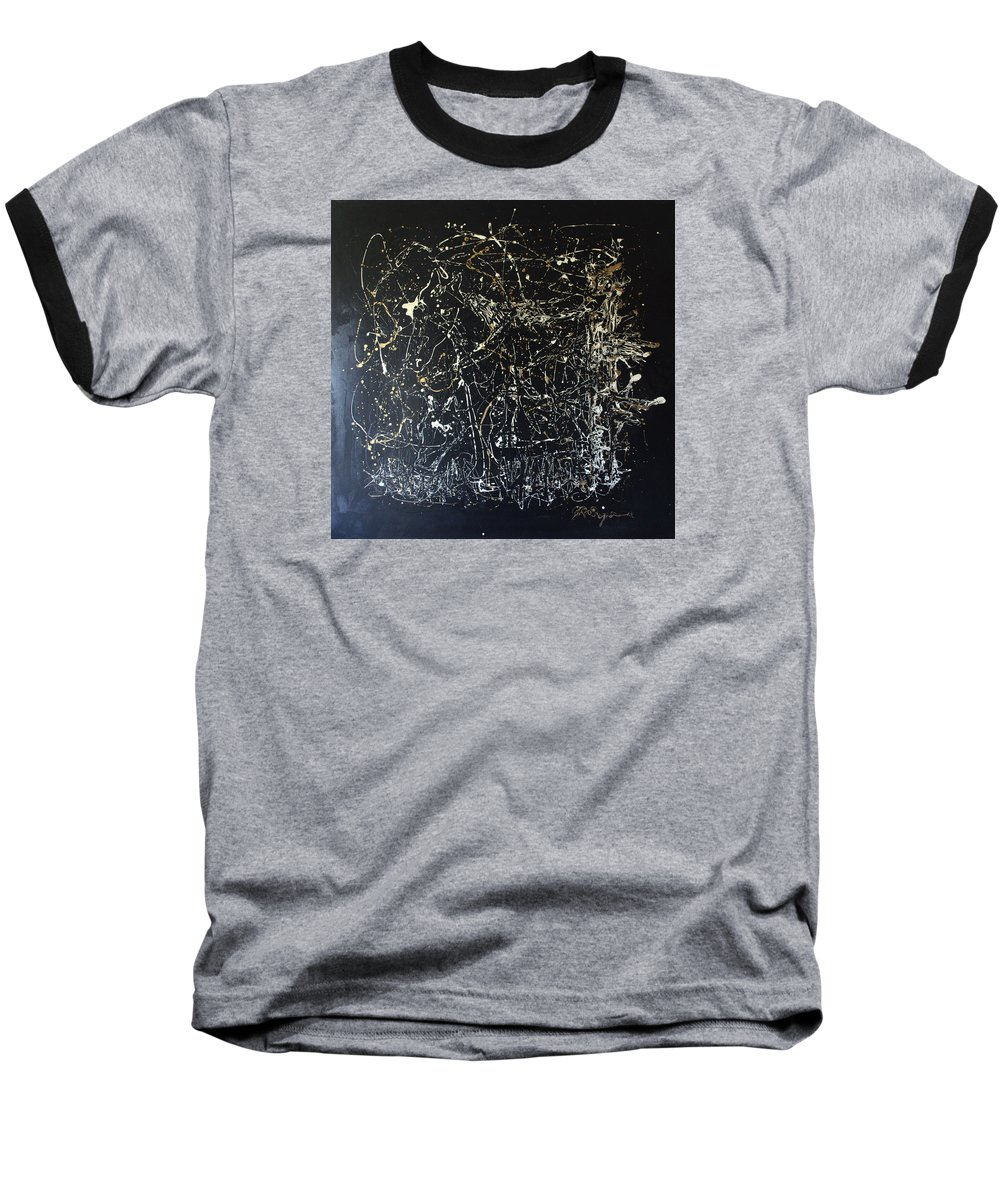 Horse In Pasture Baseball T-Shirt featuring the mixed media Horse In Pasture by J R Seymour
