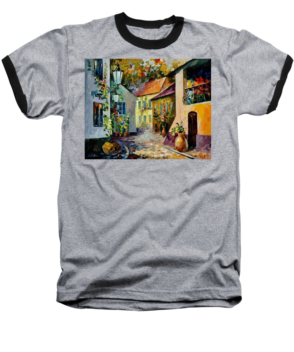 Landscape Baseball T-Shirt featuring the painting Hot Noon Original Oil Painting by Leonid Afremov