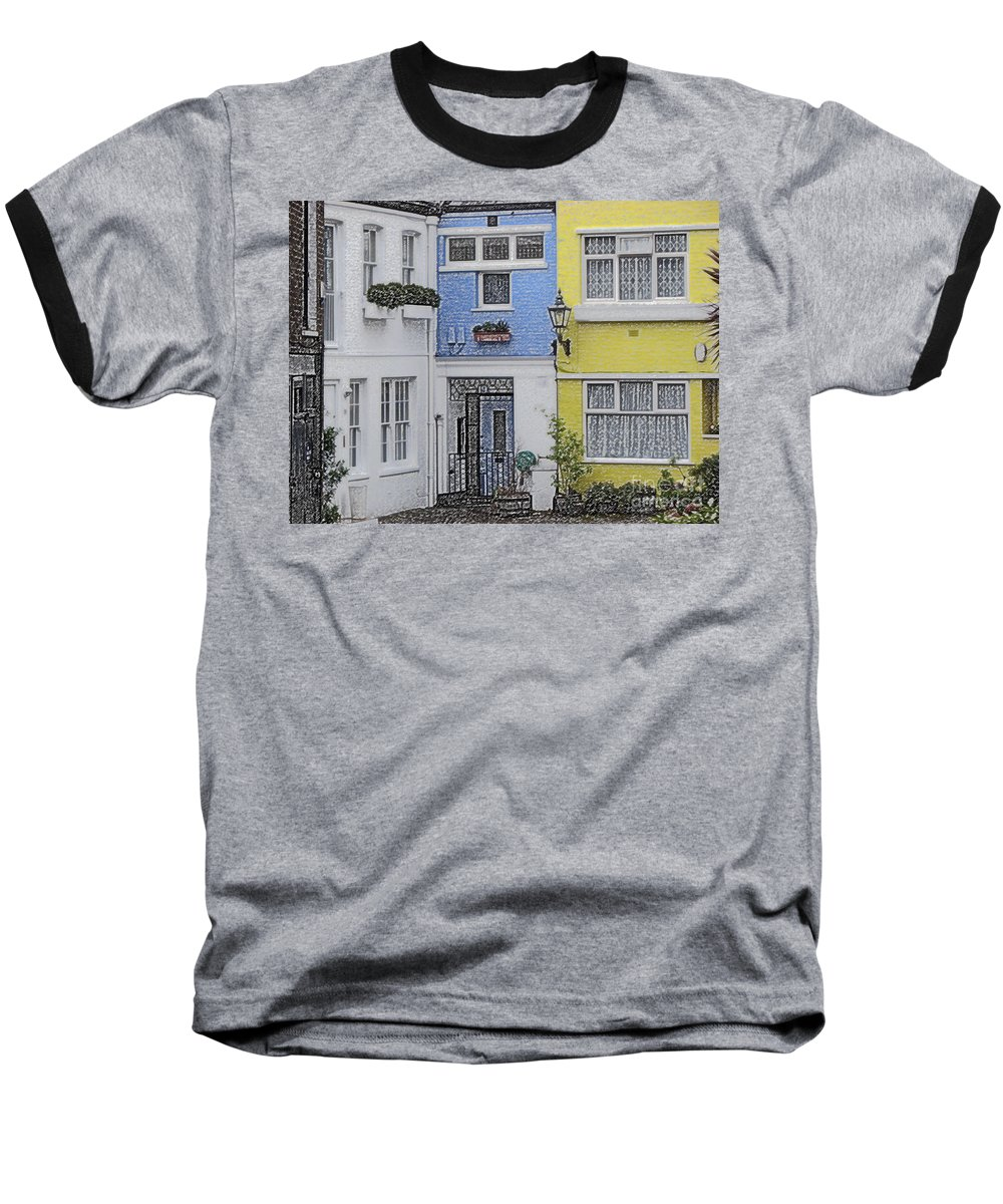 House Baseball T-Shirt featuring the photograph Houses by Amanda Barcon