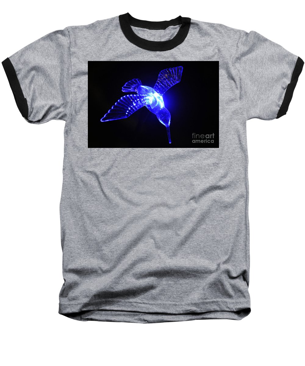 Clay Baseball T-Shirt featuring the photograph Humming Bird Light by Clayton Bruster