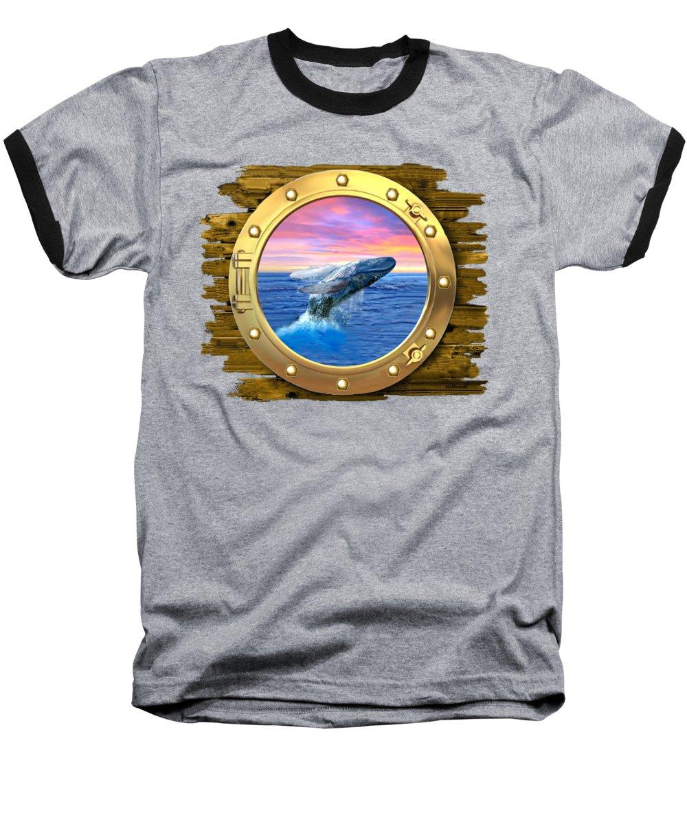Ocean Sunset Baseball T-Shirts