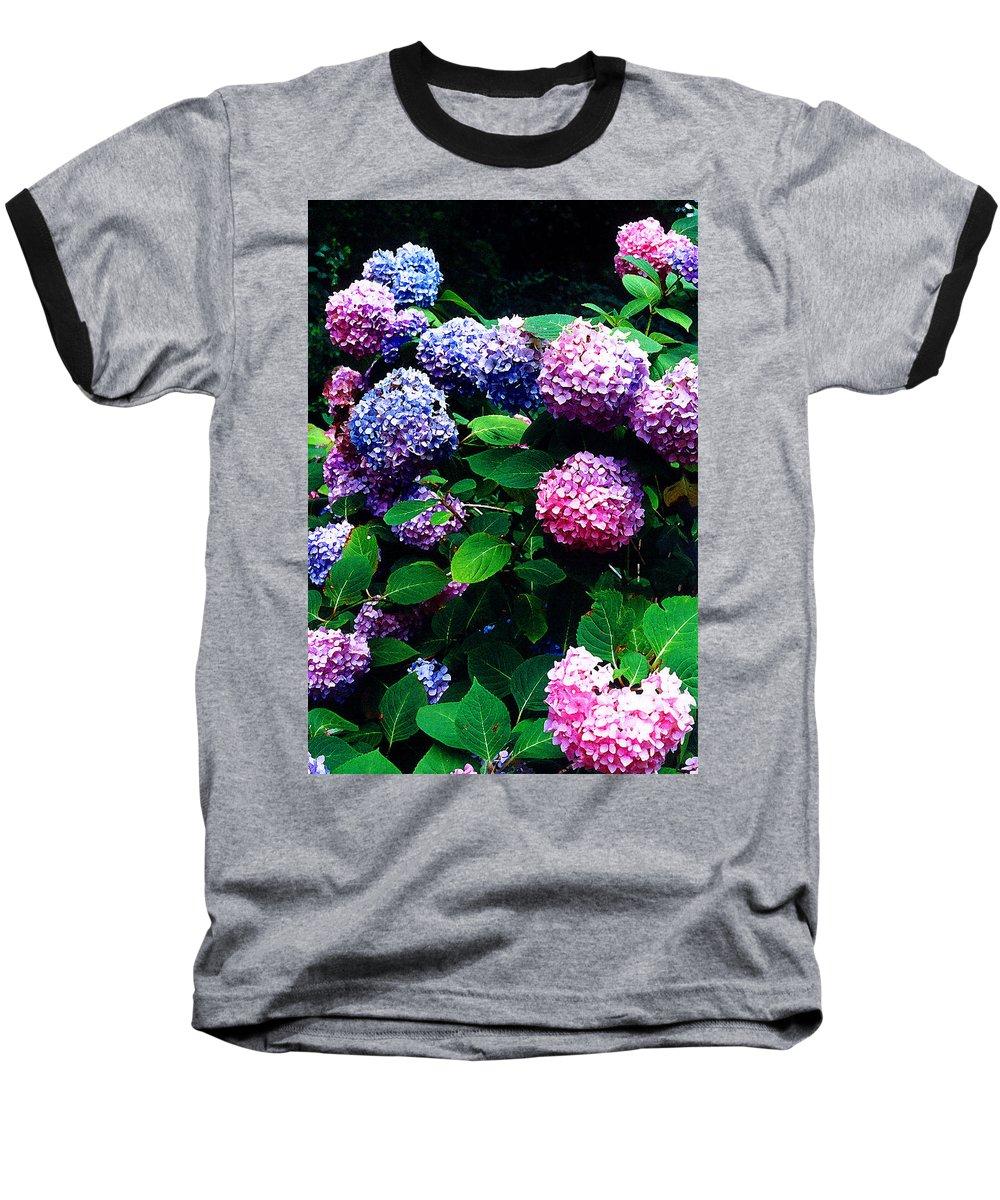 Flowers Baseball T-Shirt featuring the photograph Hydrangeas by Nancy Mueller