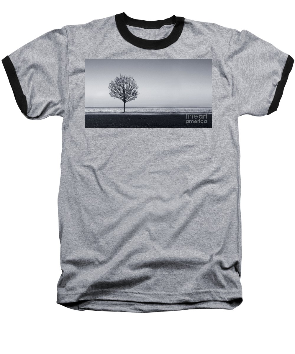 Tree Baseball T-Shirt featuring the photograph I Didnt Hear You Leaving by Dana DiPasquale