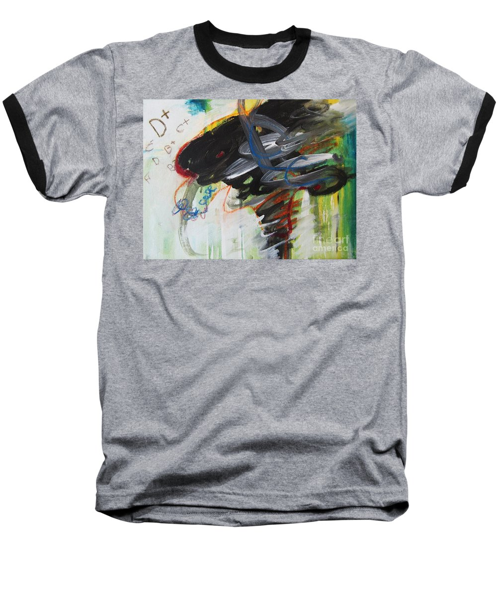 Abstract Paintings Paintings Abstract Art Paintings Baseball T-Shirt featuring the painting I Got D by Seon-Jeong Kim