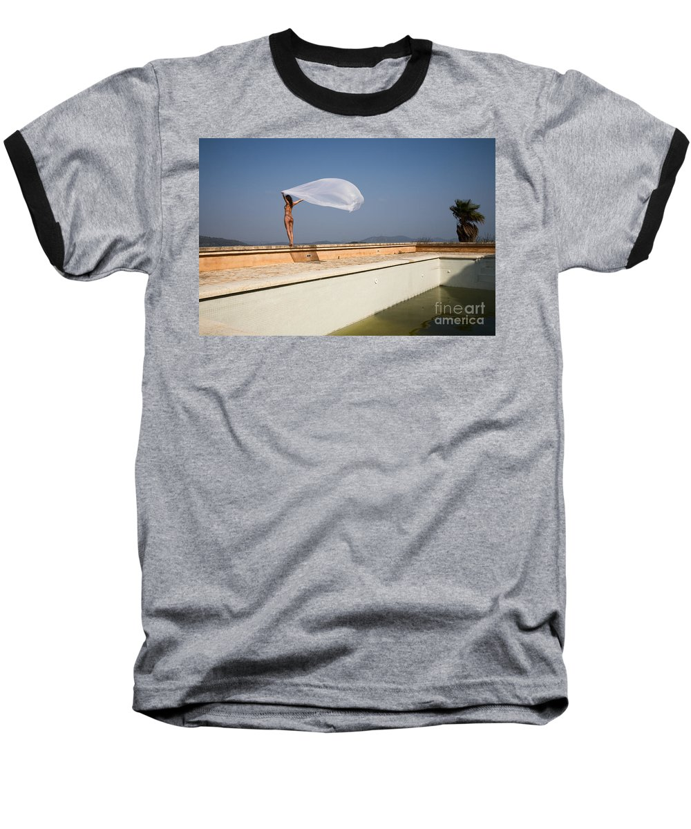 Sensual Baseball T-Shirt featuring the photograph I Will Fly To You by Olivier De Rycke