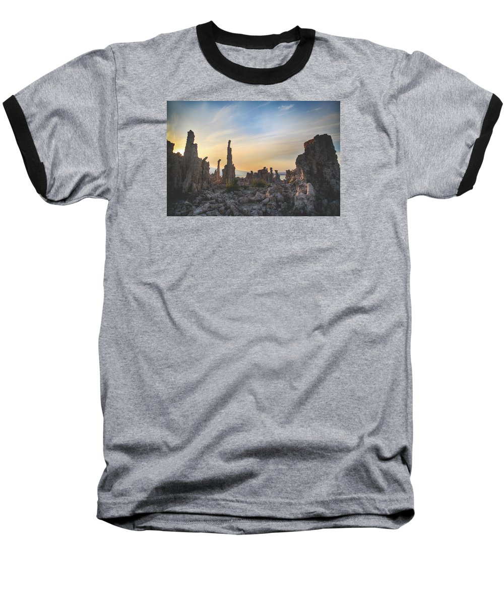 Mono Lake Baseball T-Shirt featuring the photograph I Will Overcome by Laurie Search