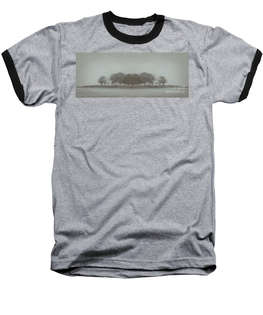 Landscape Baseball T-Shirt featuring the photograph I Will Walk You Home by Dana DiPasquale