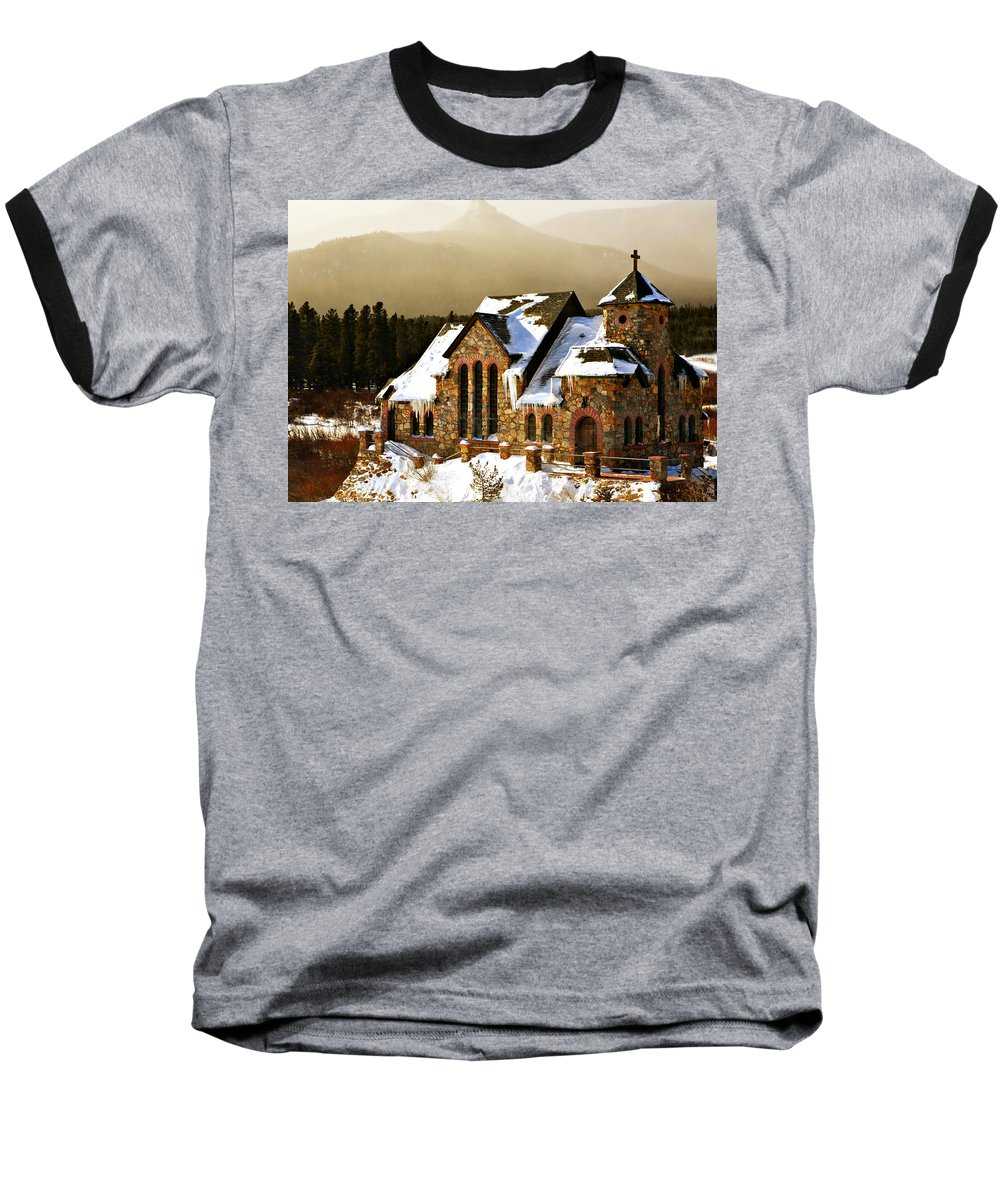 Americana Baseball T-Shirt featuring the photograph Icicles by Marilyn Hunt
