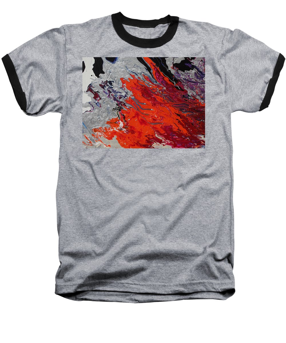 Fusionart Baseball T-Shirt featuring the painting Ignition by Ralph White