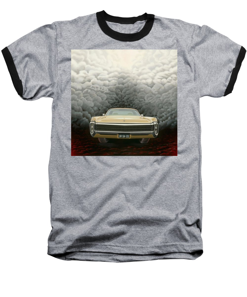 Surreal Baseball T-Shirt featuring the painting Imperial by Patricia Van Lubeck