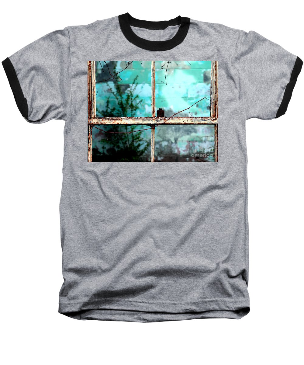 Windows Baseball T-Shirt featuring the photograph In Or Out by Amanda Barcon