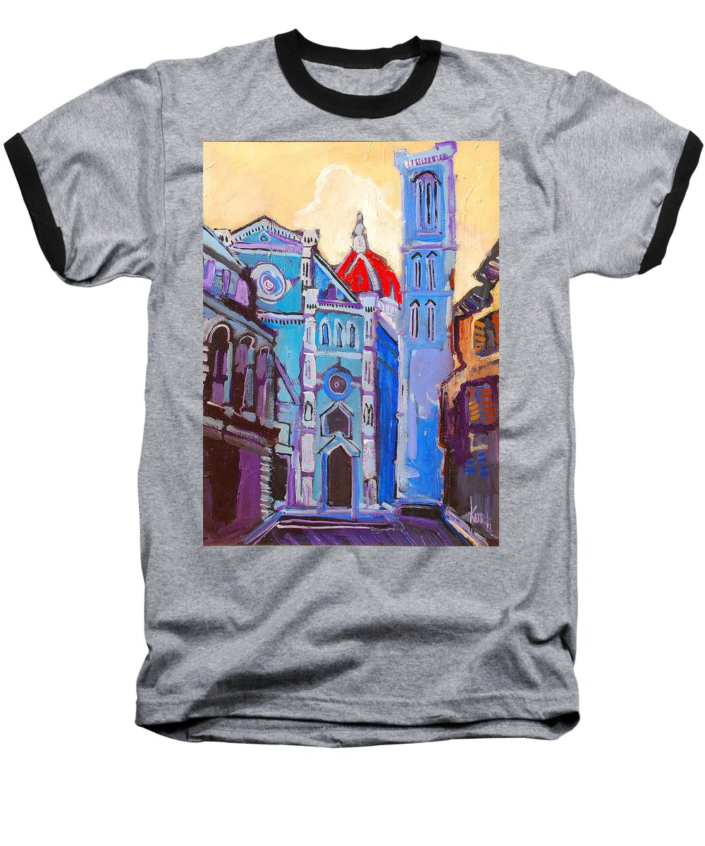 Florence Baseball T-Shirt featuring the painting In The Middle Of by Kurt Hausmann