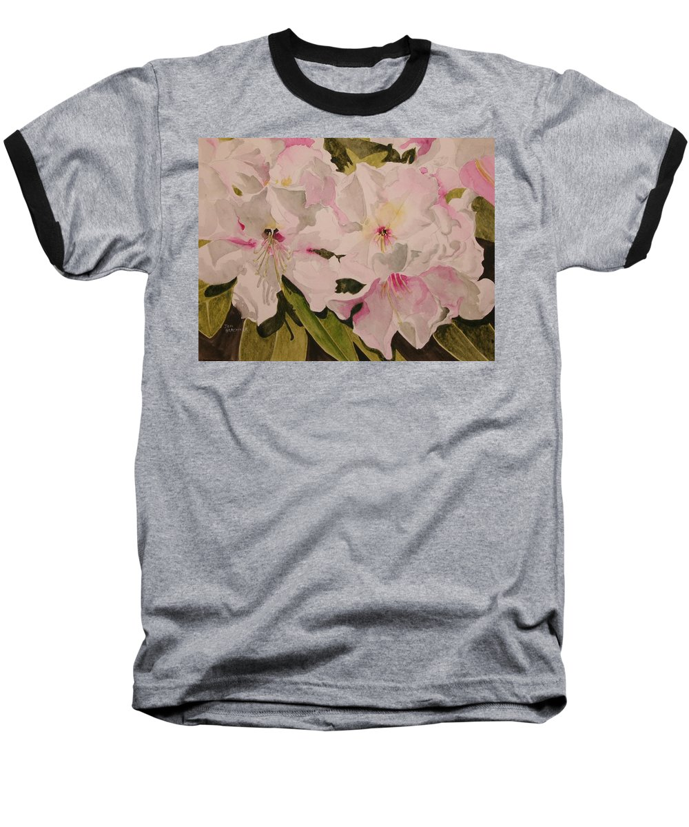 Pink Baseball T-Shirt featuring the painting In The Pink by Jean Blackmer