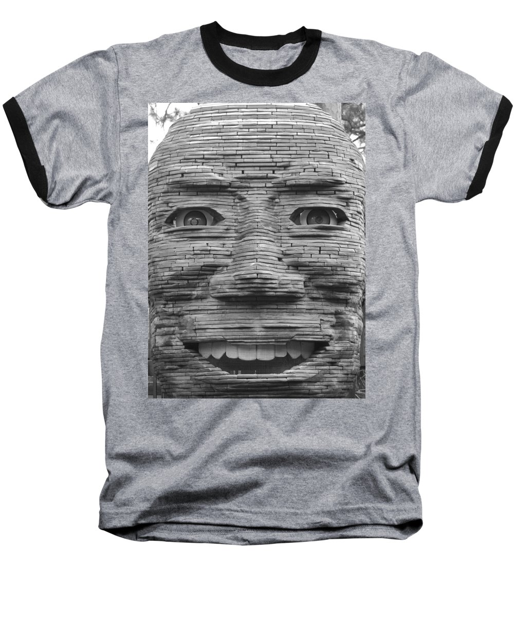 Architecture Baseball T-Shirt featuring the photograph In Your Face by Rob Hans