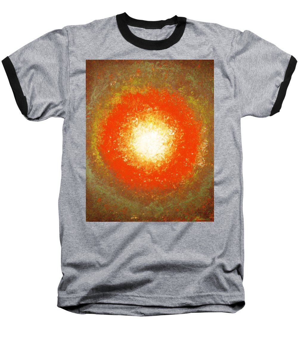 Original Baseball T-Shirt featuring the painting Inception by Todd Hoover