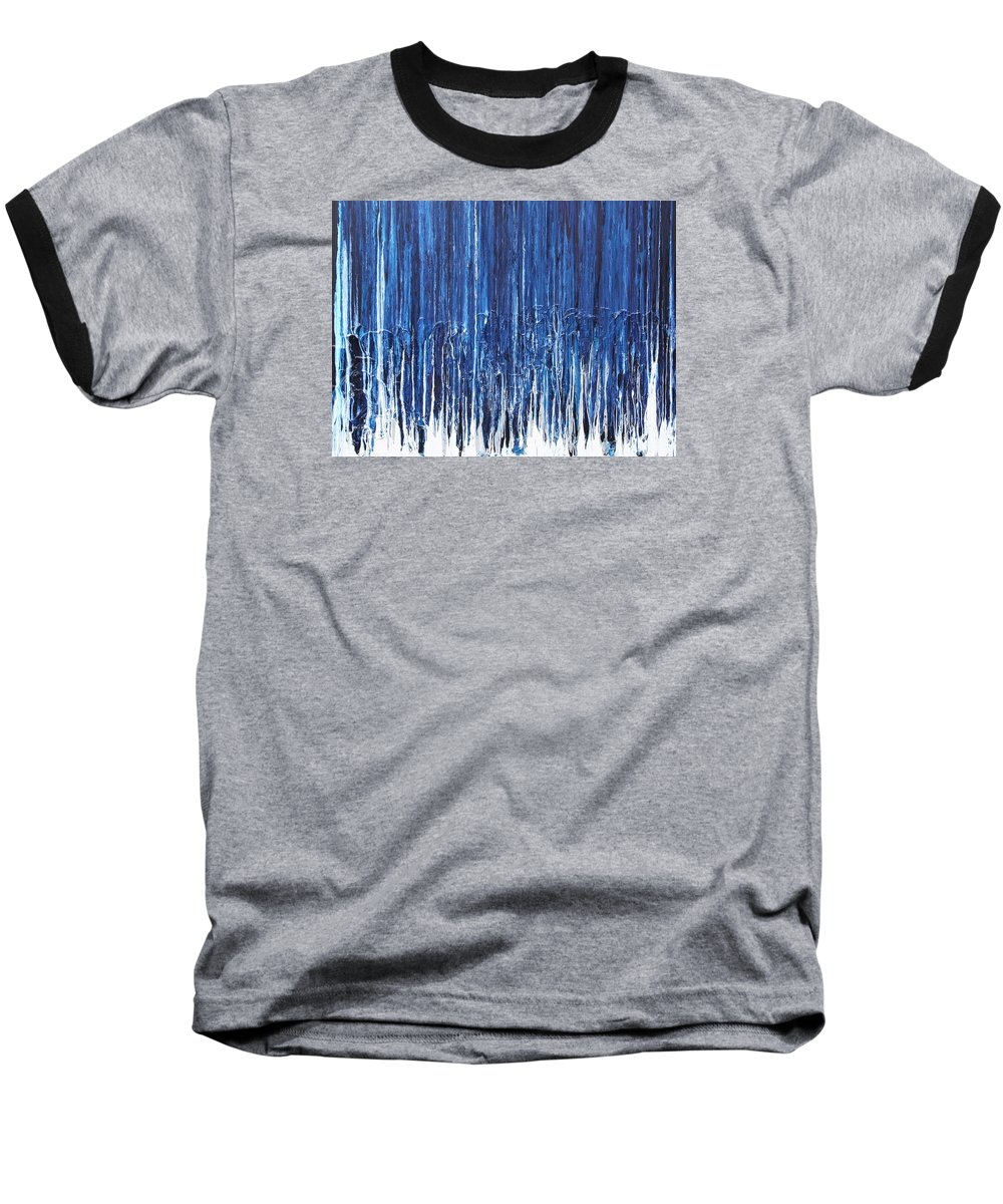 Fusionart Baseball T-Shirt featuring the painting Indigo Soul by Ralph White