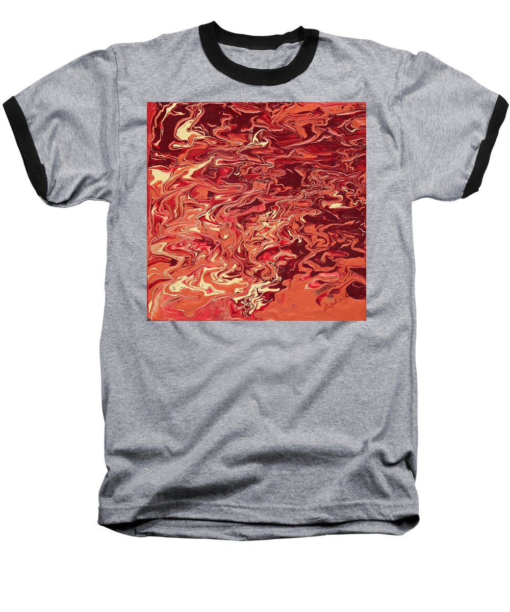Fusionart Baseball T-Shirt featuring the painting Indulgence by Ralph White