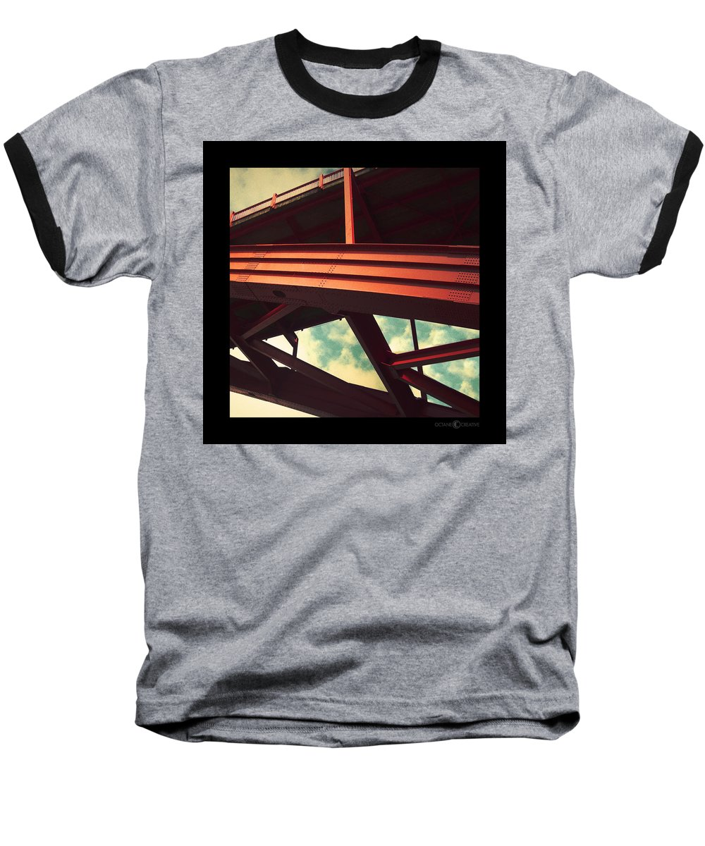 Bridge Baseball T-Shirt featuring the photograph Infrastructure by Tim Nyberg