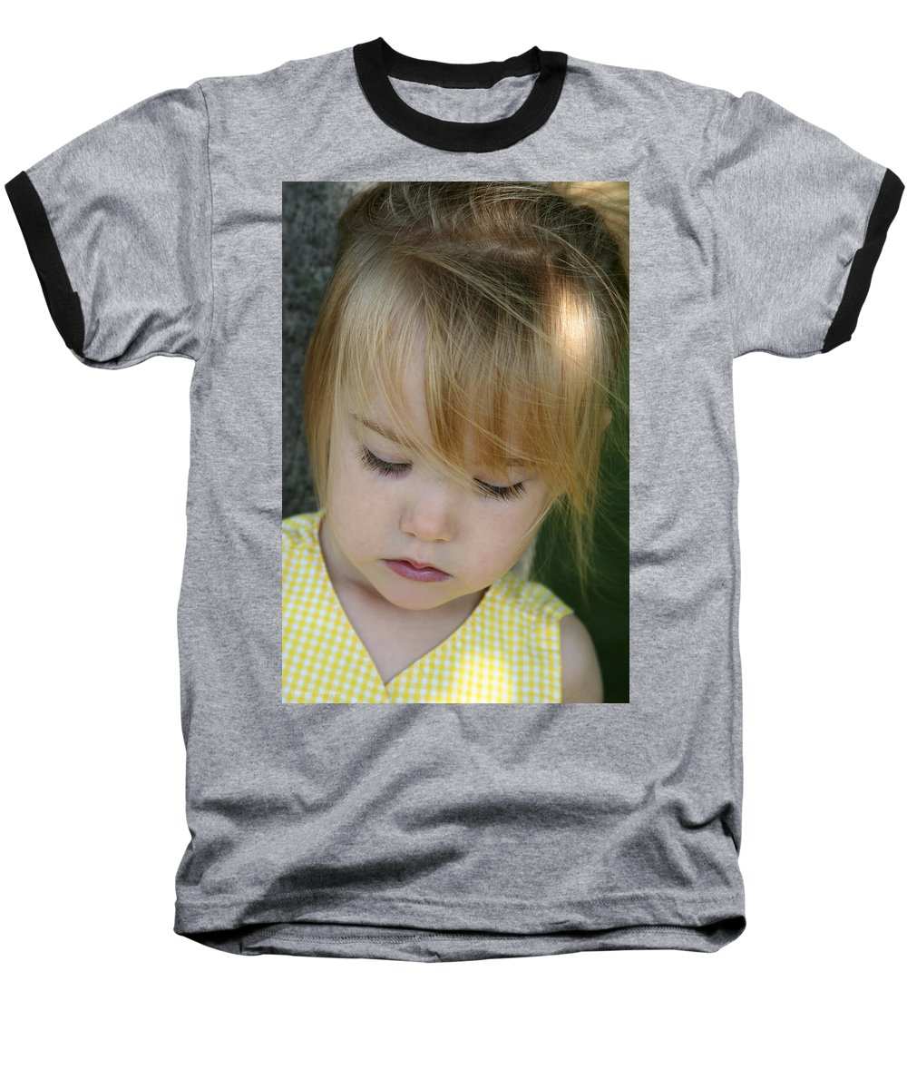 Angelic Baseball T-Shirt featuring the photograph Innocence II by Margie Wildblood