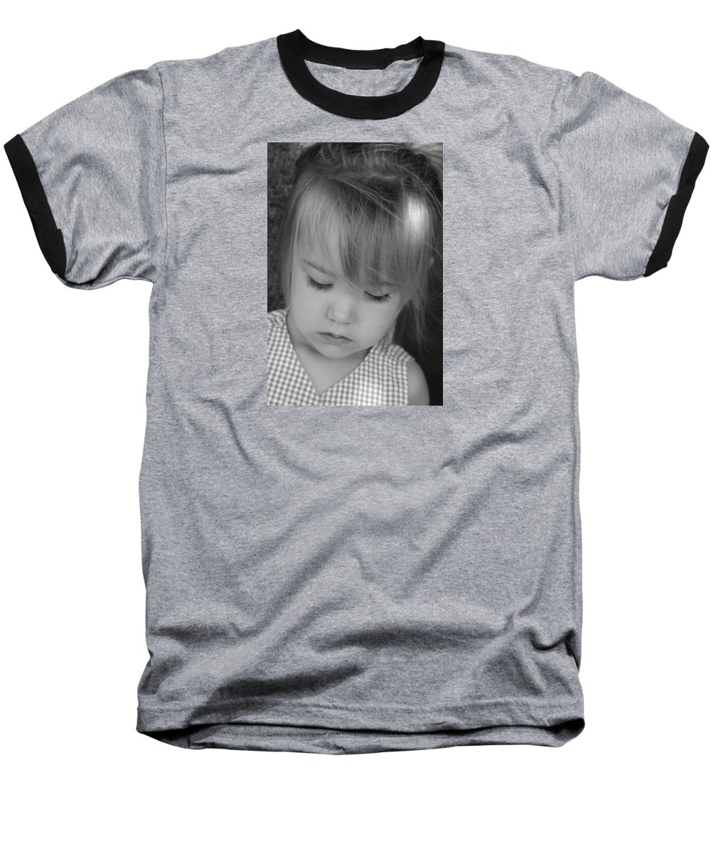 Angelic Baseball T-Shirt featuring the photograph Innocence by Margie Wildblood