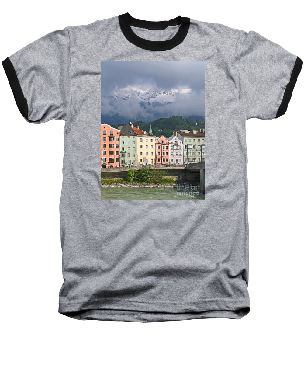 Innsbruck Baseball T-Shirt featuring the photograph Innsbruck by Ann Horn