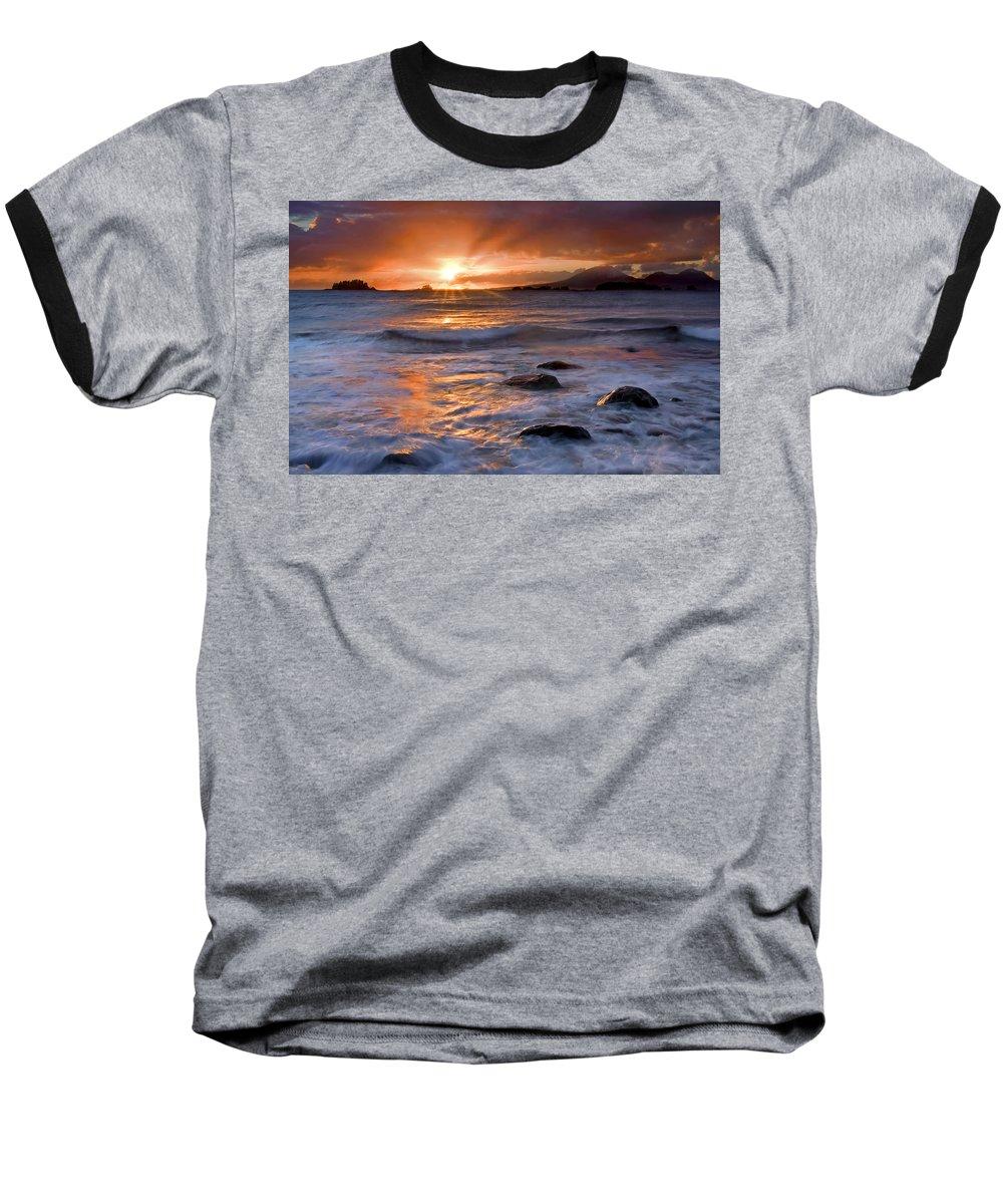 Alaska Baseball T-Shirt featuring the photograph Inspired Light by Mike Dawson