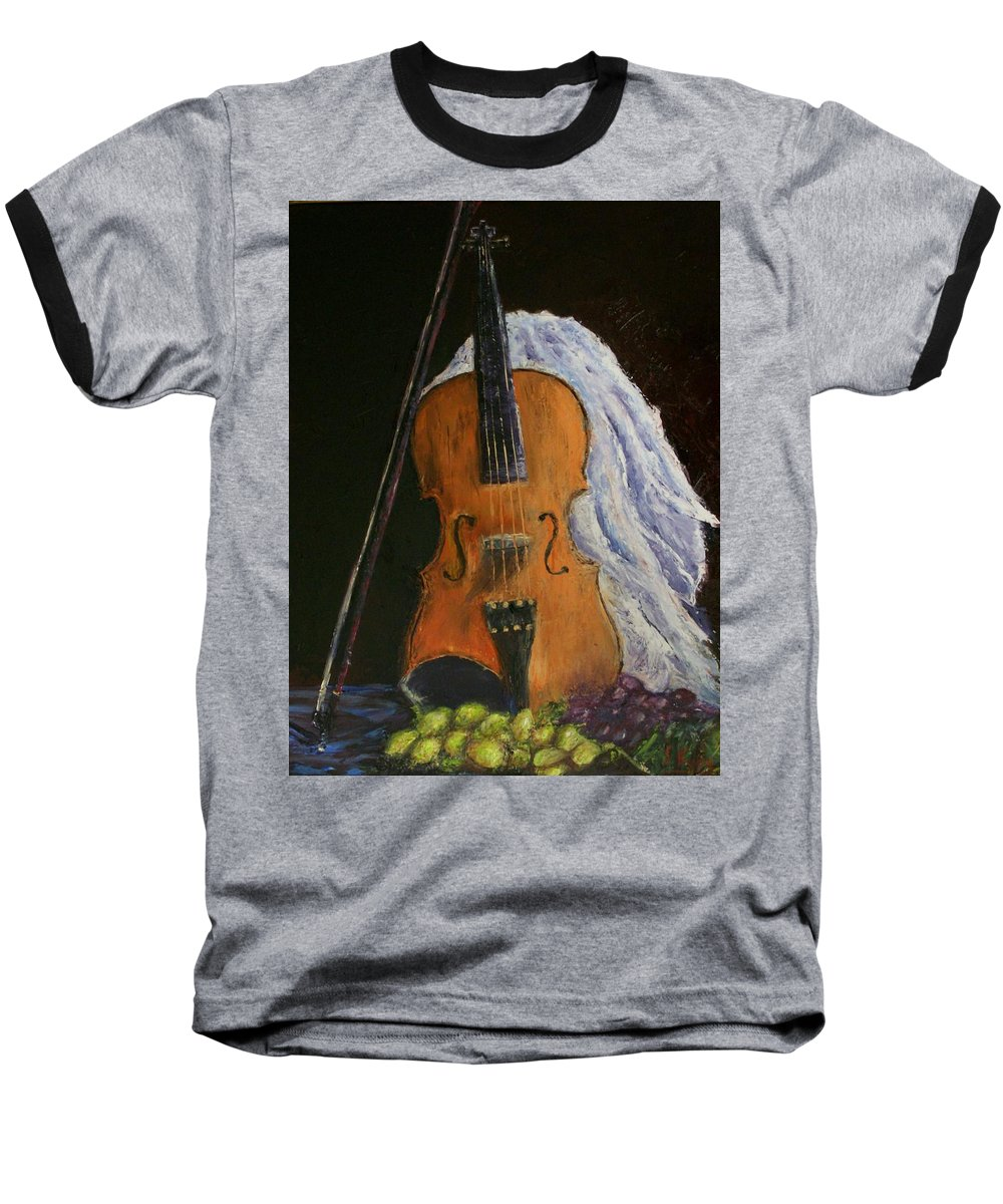 Original Baseball T-Shirt featuring the painting Intermission by Stephen King