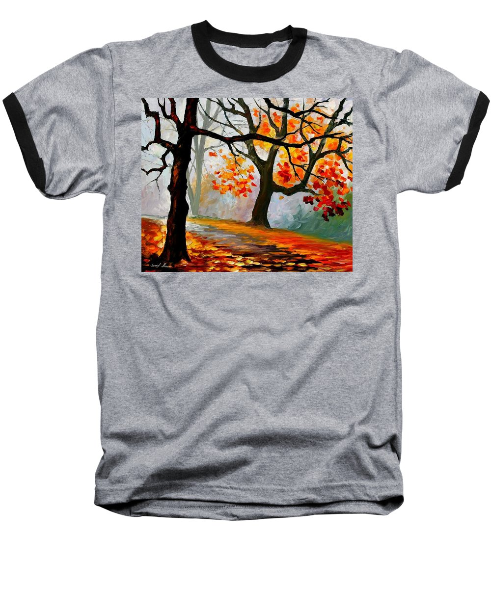 Landscape Baseball T-Shirt featuring the painting Interplacement by Leonid Afremov