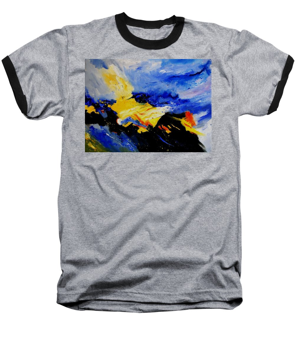 Abstract Baseball T-Shirt featuring the painting Interstellar Overdrive 2 by Pol Ledent