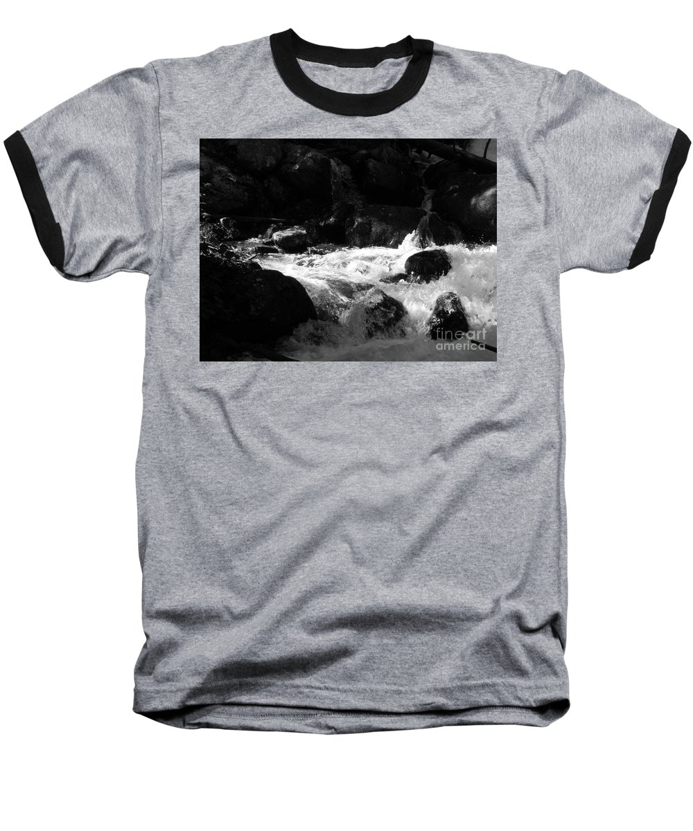 Rivers Baseball T-Shirt featuring the photograph Into The Light by Amanda Barcon