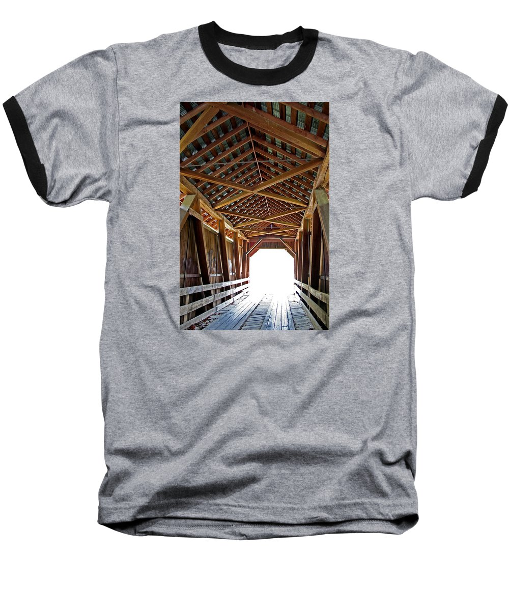 Light Baseball T-Shirt featuring the photograph Into The Light by Margie Wildblood