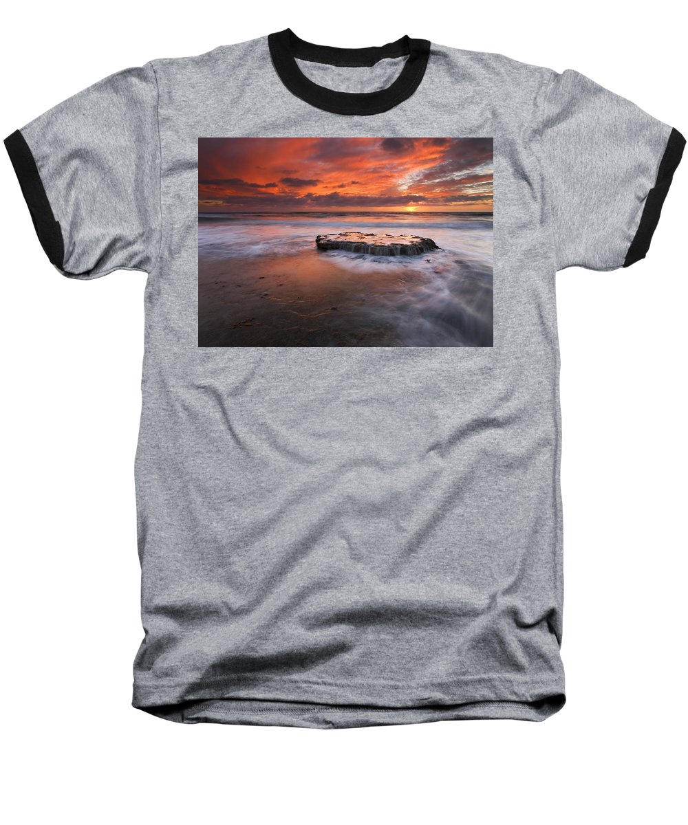 Island Baseball T-Shirt featuring the photograph Island In The Storm by Mike Dawson