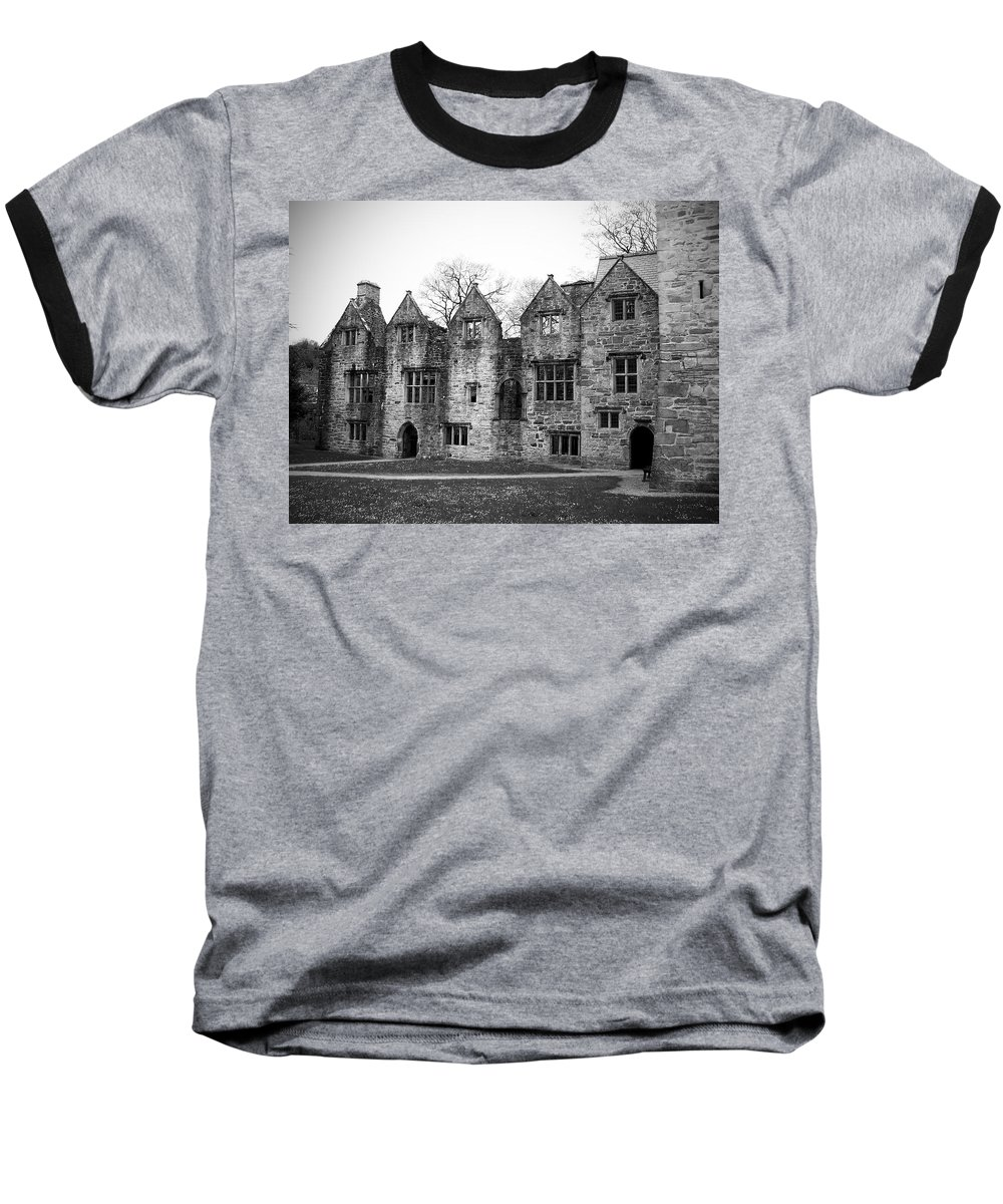 Irish Baseball T-Shirt featuring the photograph Jacobean Wing At Donegal Castle Ireland by Teresa Mucha