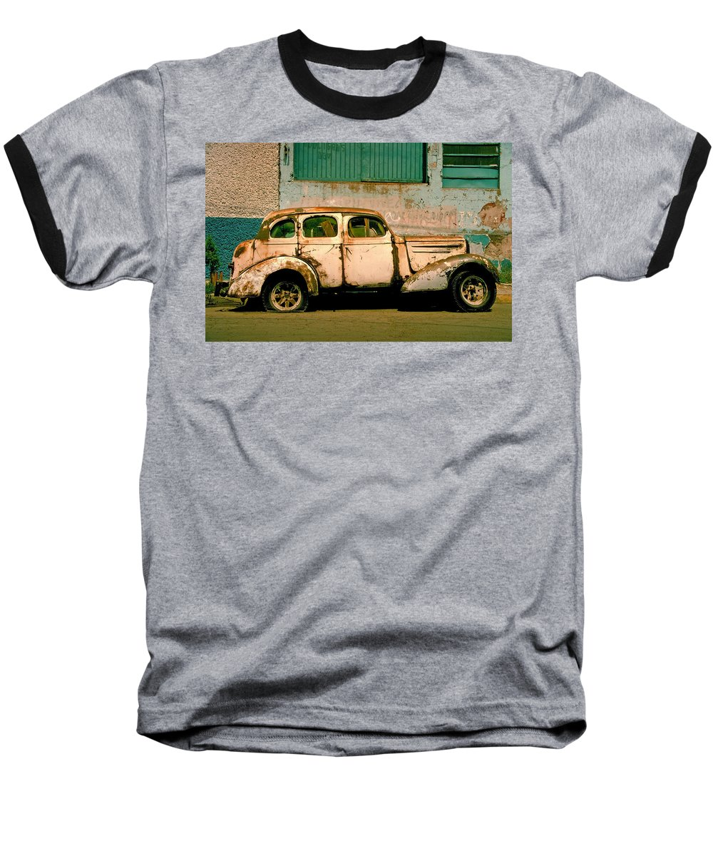 Skip Baseball T-Shirt featuring the photograph Jalopy by Skip Hunt