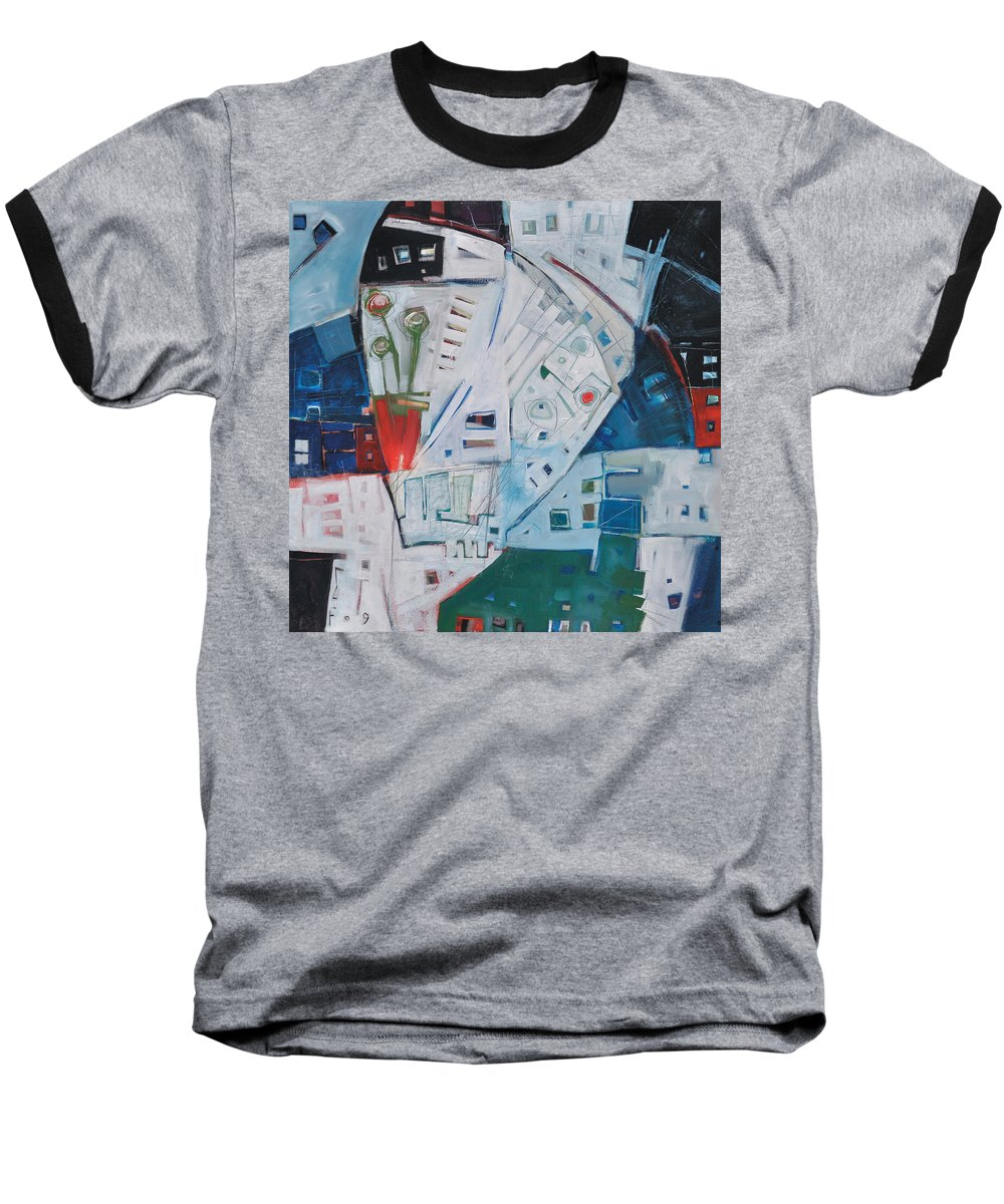 Jazz Baseball T-Shirt featuring the painting Jazz In Bloom by Tim Nyberg