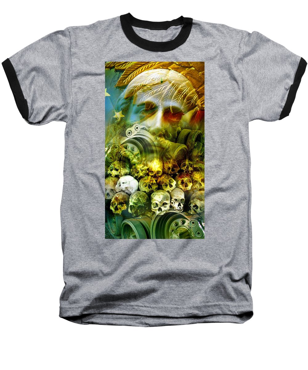 Jesus Baseball T-Shirt featuring the photograph Jesus Wept by Skip Hunt