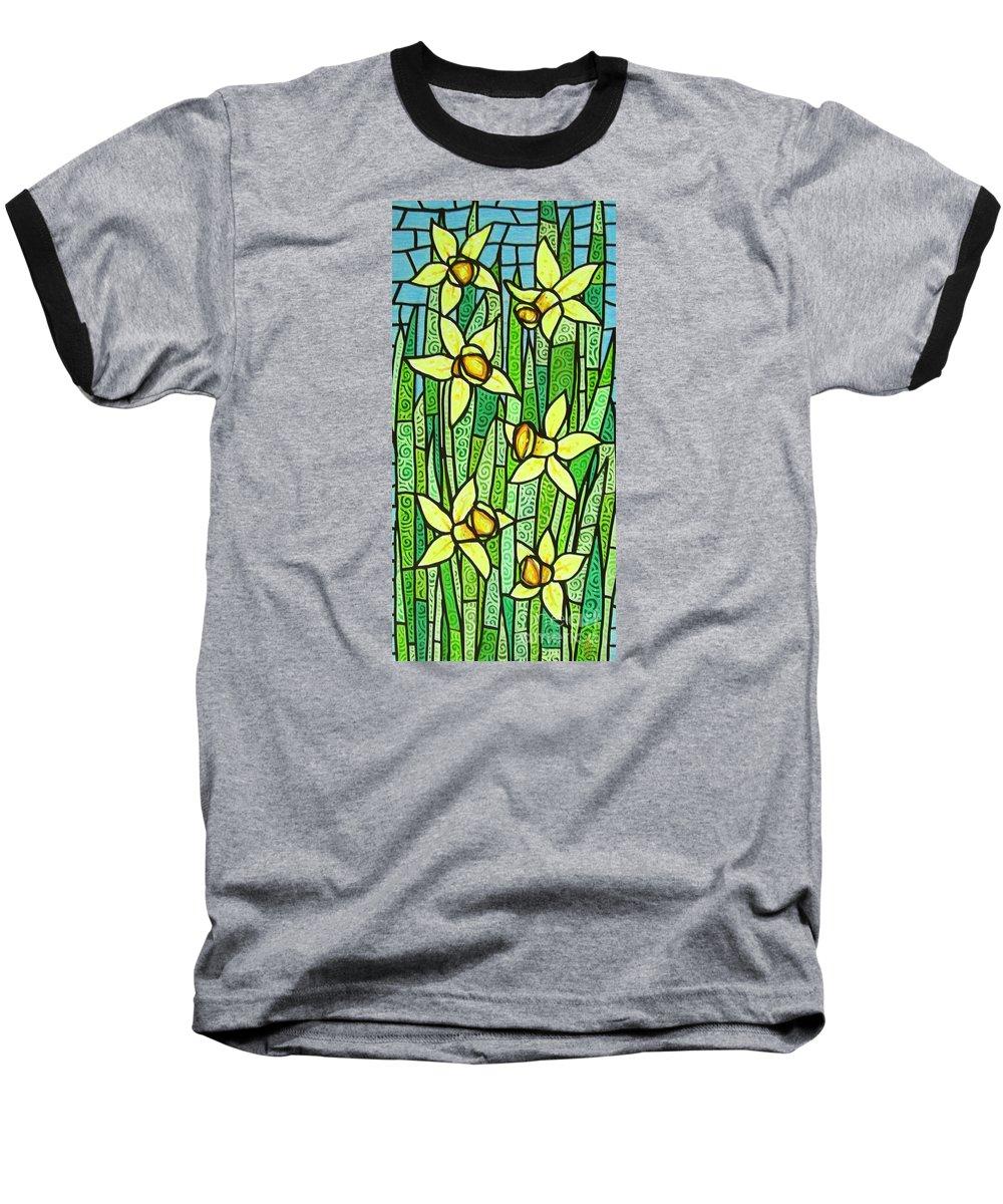 Jonquils Baseball T-Shirt featuring the painting Jonquil Glory by Jim Harris