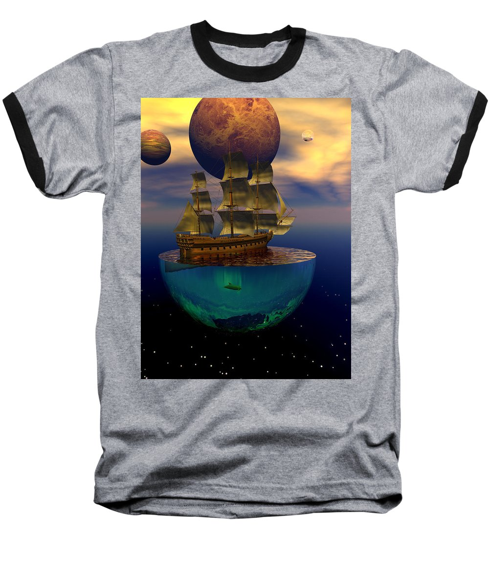 Bryce Baseball T-Shirt featuring the digital art Journey Into Imagination by Claude McCoy