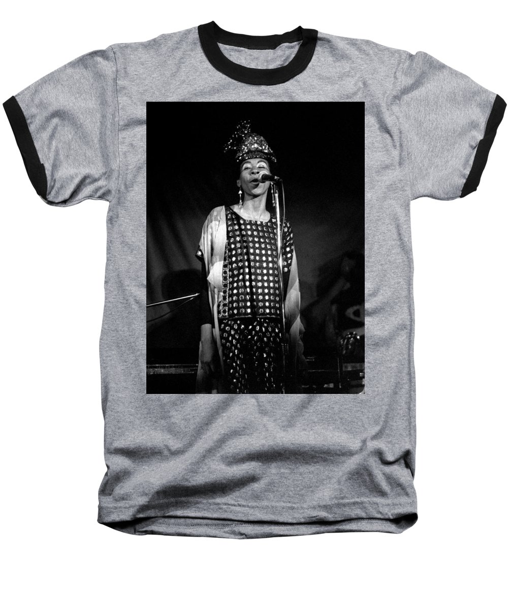 June Tyson Baseball T-Shirt featuring the photograph June Tyson by Lee Santa