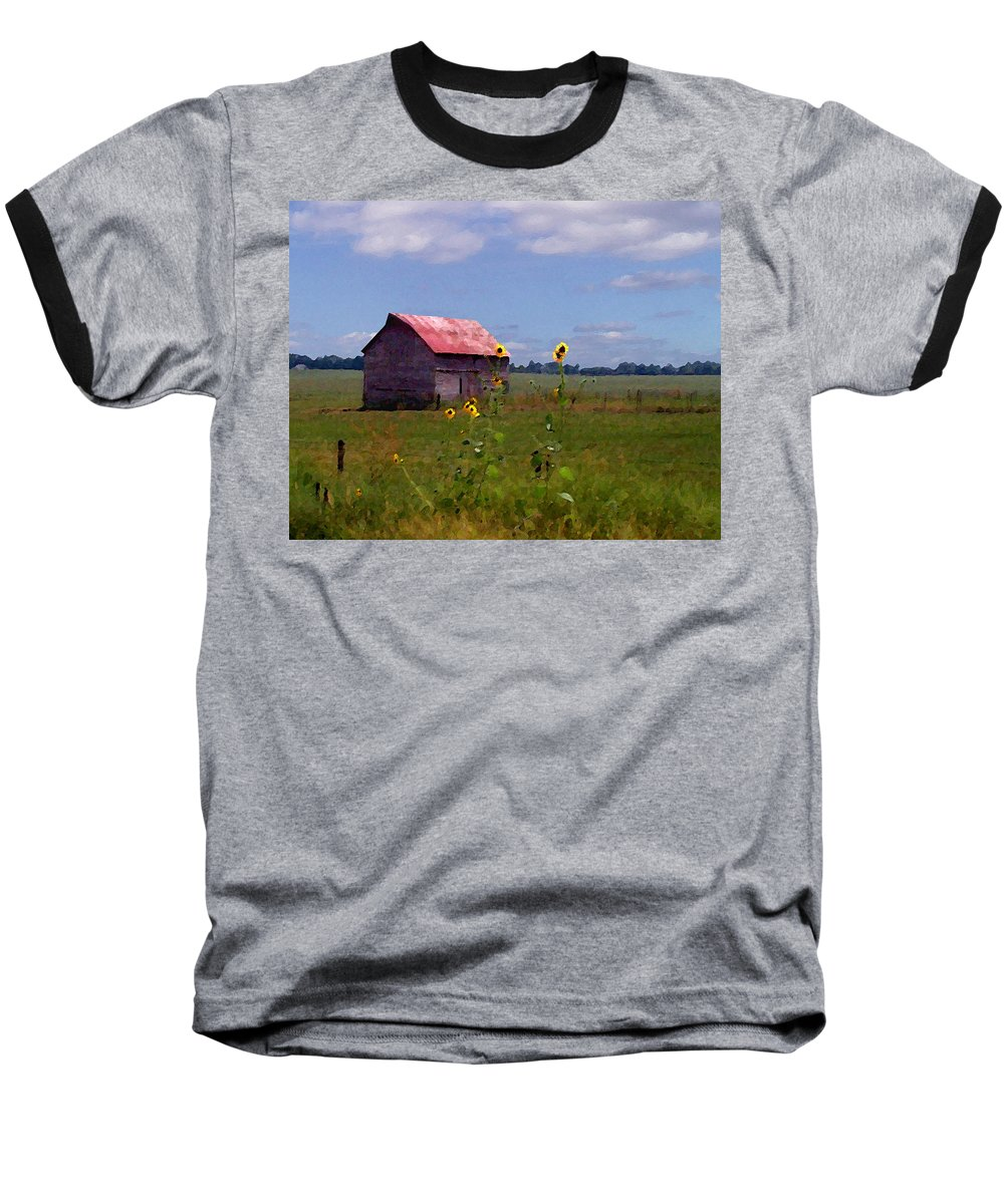 Lanscape Baseball T-Shirt featuring the photograph Kansas Landscape by Steve Karol