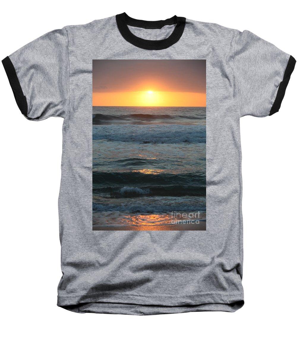 Kauai Baseball T-Shirt featuring the photograph Kauai Sunrise by Nadine Rippelmeyer