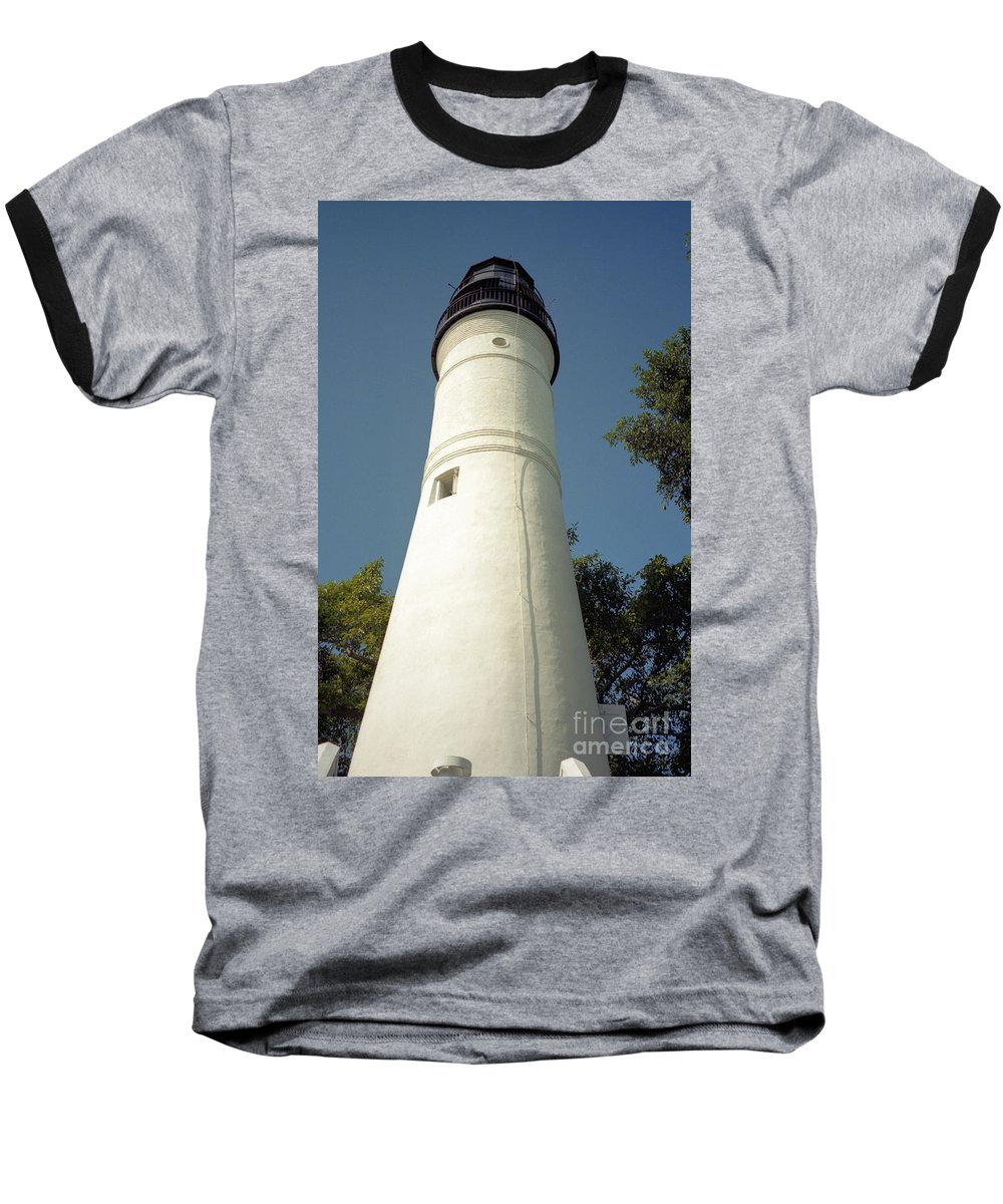 Lighthouses Baseball T-Shirt featuring the photograph Key West Lighthouse by Richard Rizzo