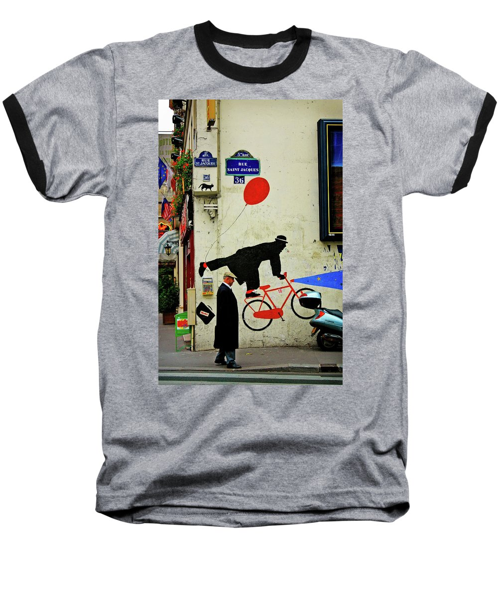 Paris Baseball T-Shirt featuring the photograph Kick In The Head by Skip Hunt