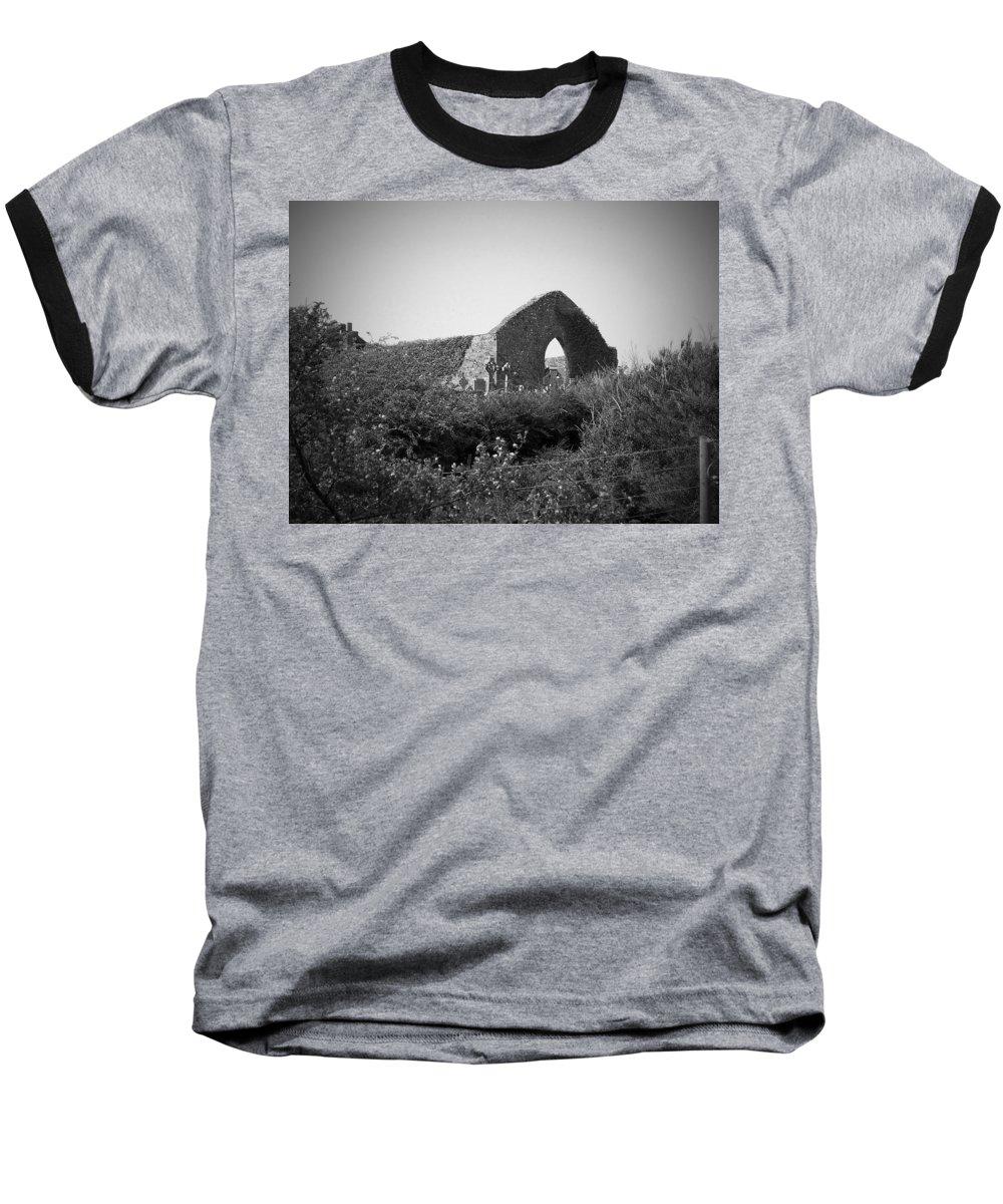 Irish Baseball T-Shirt featuring the photograph Kilmanaheen Church Ruins Ennistymon Ireland by Teresa Mucha