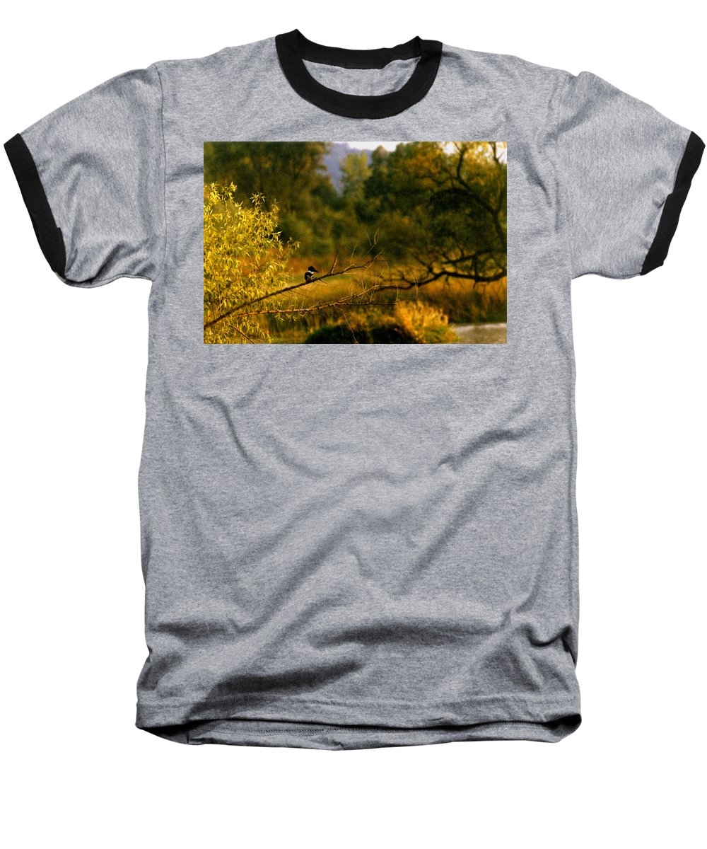 Landscape Baseball T-Shirt featuring the photograph King Fisher by Steve Karol